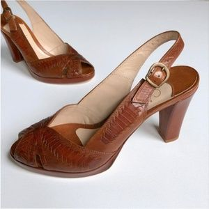 Cole Haan Chestnut Brown Sandals Pumps